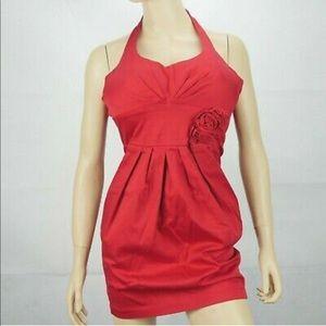 Red B Darlin Halter Dress